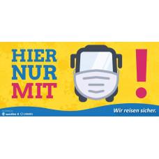 Sticker Hier Nur Mit Maske